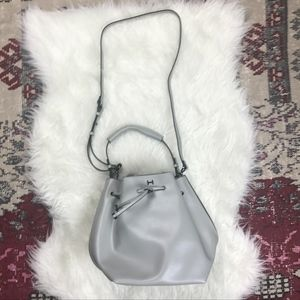 9336af8401a8 H by Halston Bags - H by Halston Smooth Leather Drawstring Bucket Bag